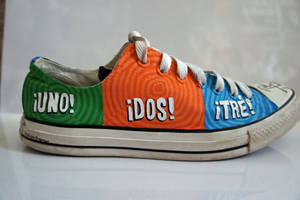 Green Day: Uno Dos Tre Shoe by FreeAsMy-Hair
