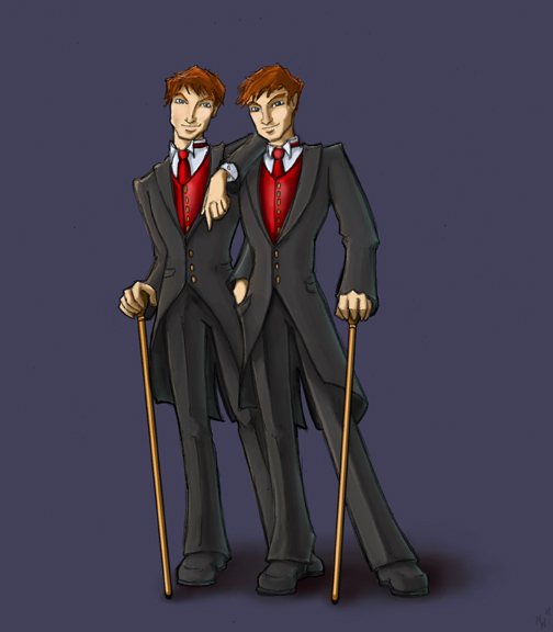 Weasley Twins - HP7 Spoiler by The-Starhorse