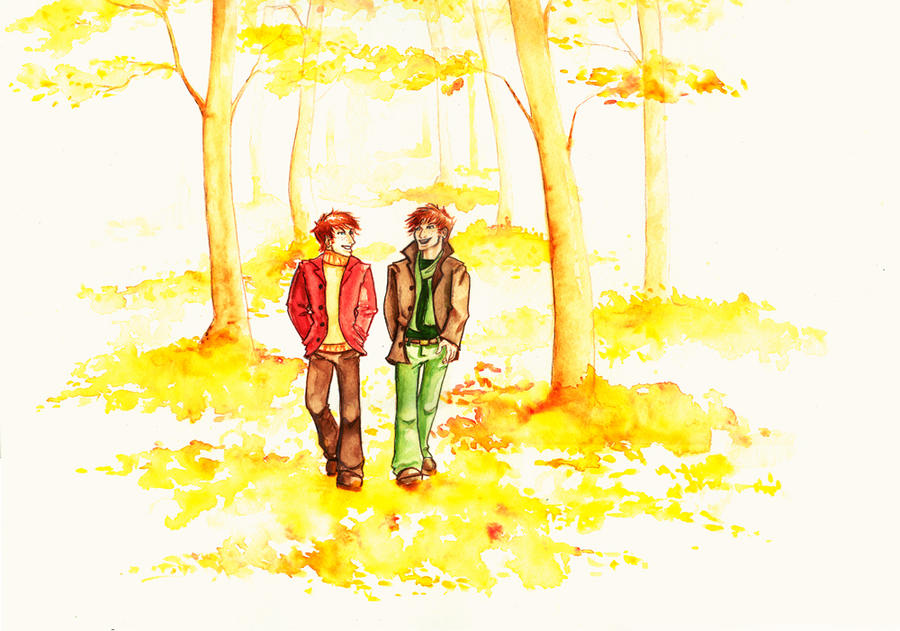 Fred and George: Autumn by The-Starhorse