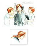 Bill Weasley Sketches 2
