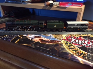 A Pacific star and a brakevan by Train48