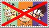 Anti Lincoln Loud X Leni and Luna Loud stamp