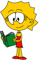 Lisa Simpson in The Loud House style by MarJulSanSil