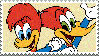 Woody Woodpecker x Winnie Woodpecker stamp