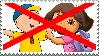 Anti Caillou x Dora stamp
