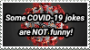 Do never make jokes about COVID-19 stamp