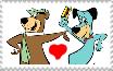 Yogi Bear x Huckleberry Hound stamp