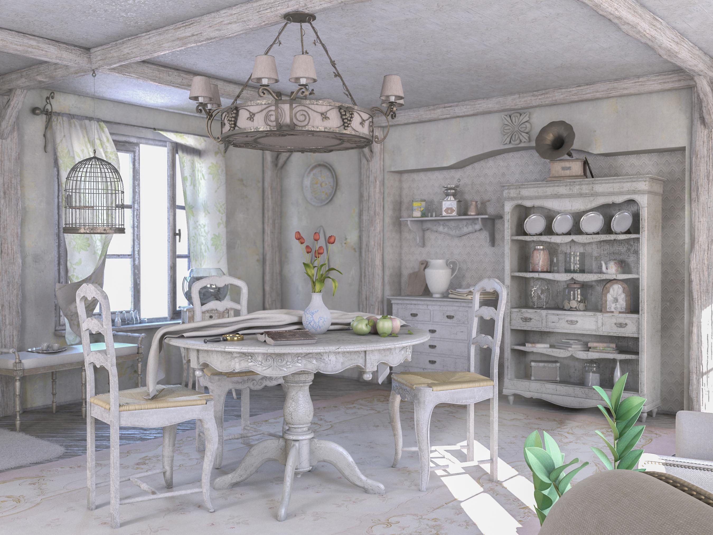 V Ray Maya By Fender81 Provence Interior