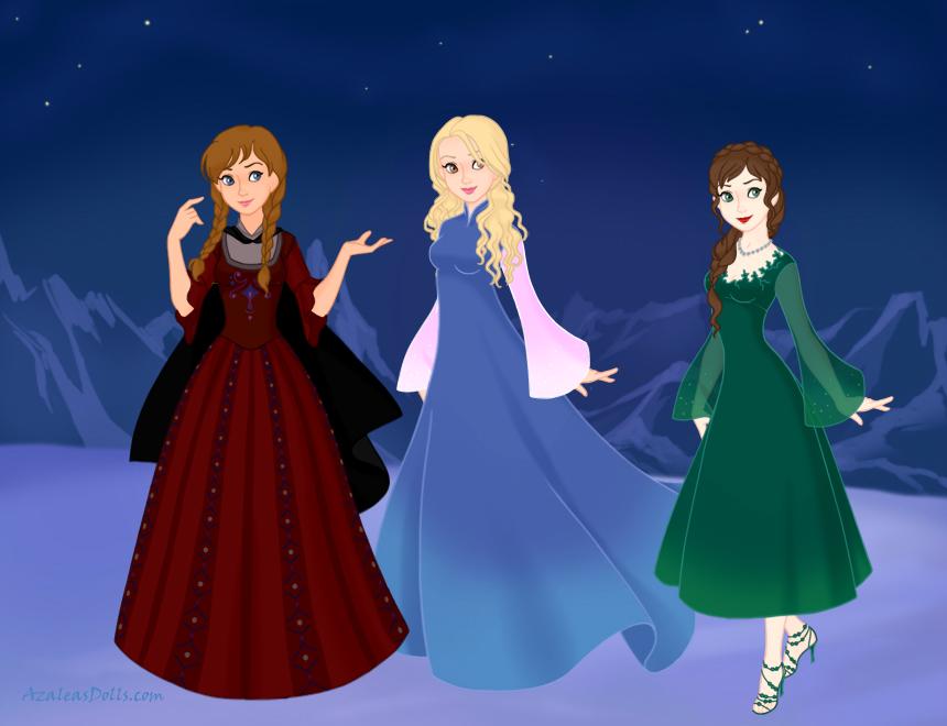 Jasmine, Sarah, and Alyssa by Queenofnightwish