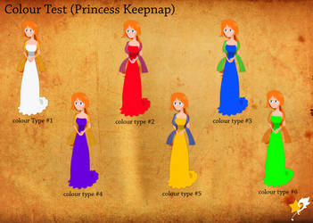 full body color test (Princess Keepnap) by Chr0nicler