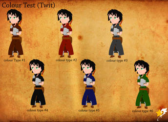 full body color test (Twit) by Chr0nicler