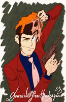 Lupin the III with Mask e Gun by handesigner