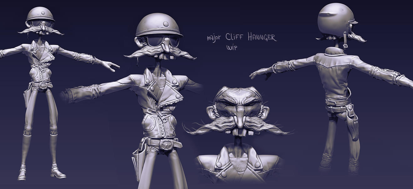 major Cliff Hannger wip by sittingducky