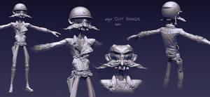 major Cliff Hannger wip