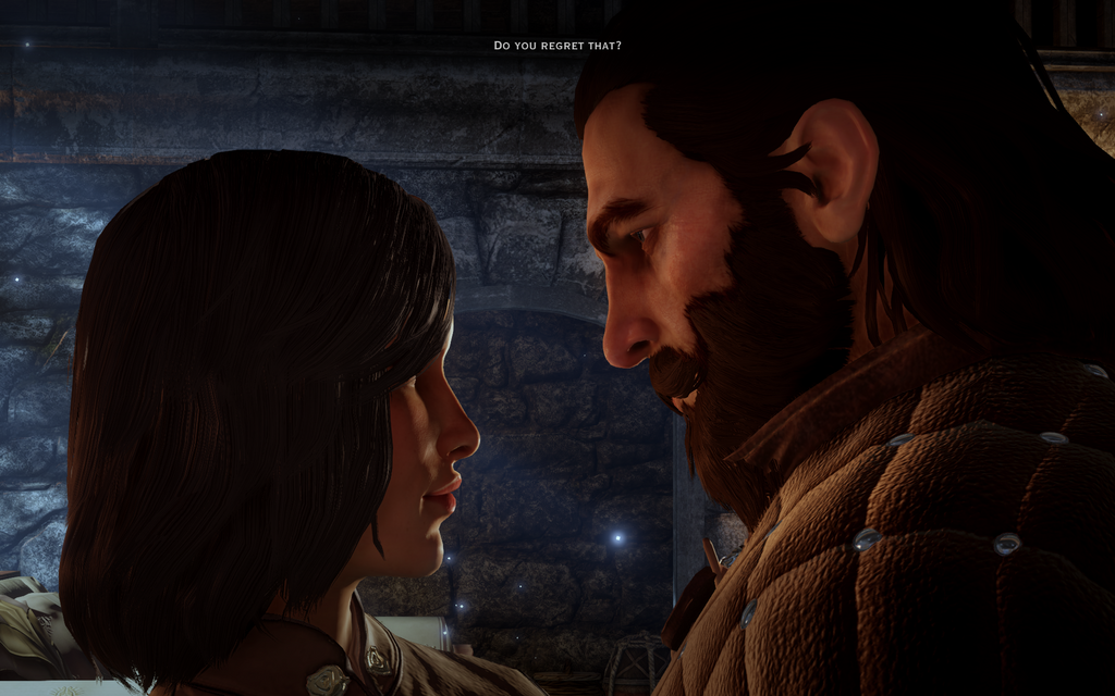 My Inquisitor and Blackwall (DA:I) by ElenaMarLeng on DeviantArt