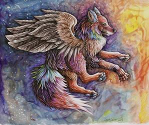 Wolf of northen Lights by dawndelver