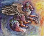 Wolf of northen Lights
