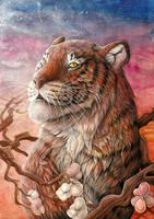 Peaceful Tiger by dawndelver