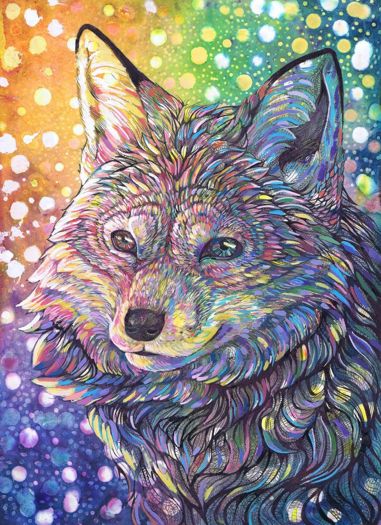 Rainbow Fox by dawndelver