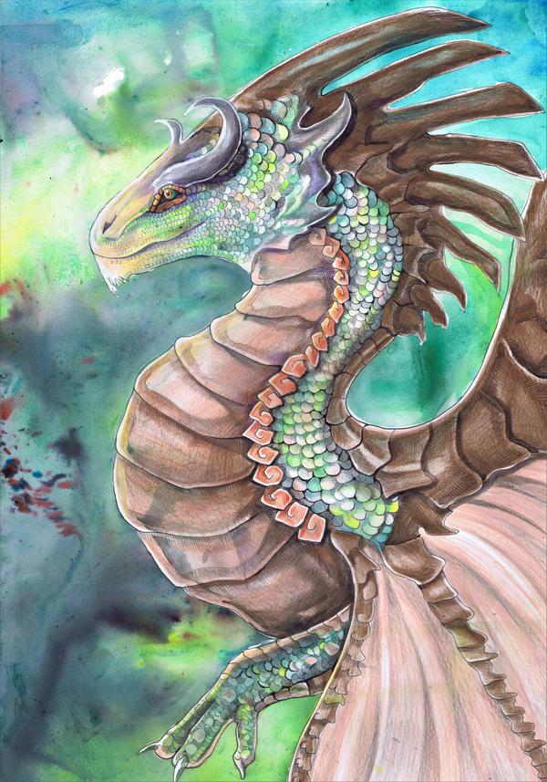 Forest Green Dragon by dawndelver