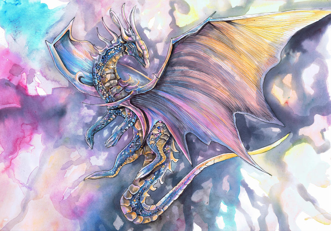 Twilight Sky Dragon by dawndelver