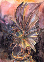 Lava Dragon by dawndelver