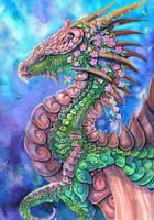 Blossom Tree Dragon by dawndelver