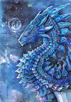 Blue Winter Dragon