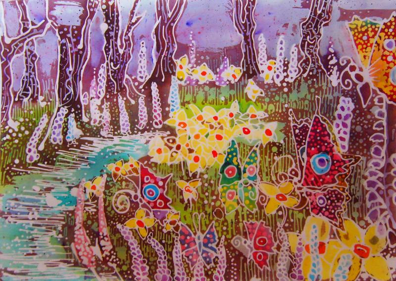 Batik English Spring by dawndelver