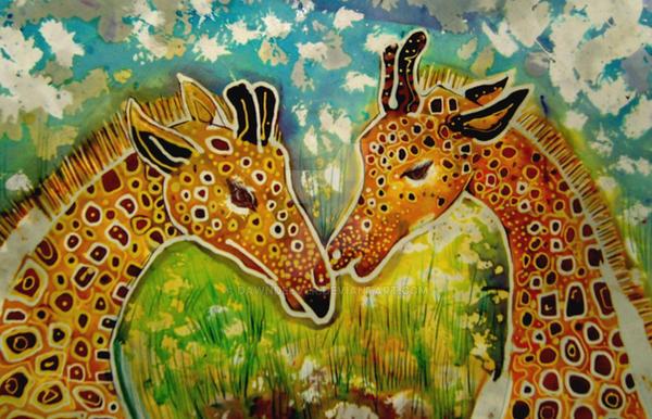 Batik Giraffe by dawndelver