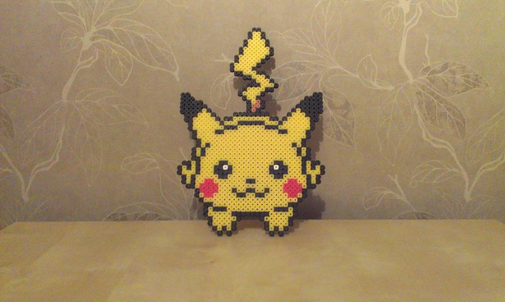 pikachu perler mini