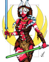 Shaak Ti commission by gb2k