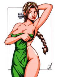 Lara Croft Towel commission by gb2k