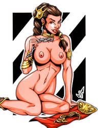 Naughty Leia commission 2 by gb2k