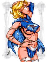 Savage Land Supergirl Amalgam by gb2k