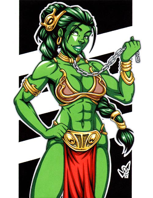 Slave She-Hulk commission by gb2k