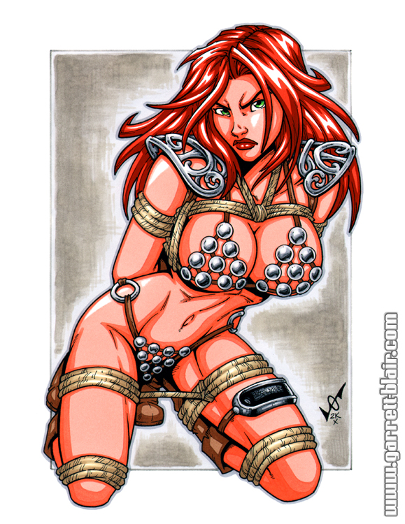 Red Sonja bound commission by gb2k