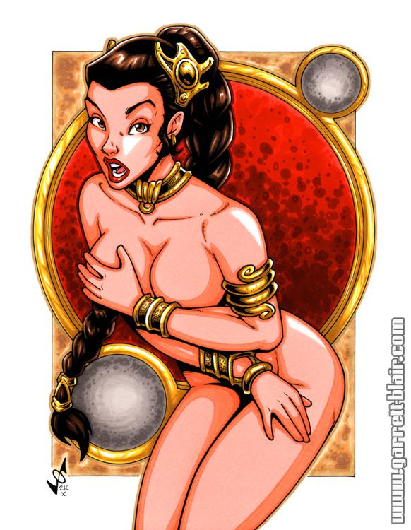 Princess leia bikini oops