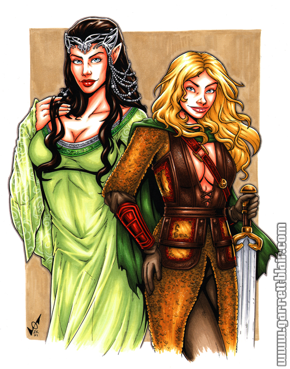 Eowyn + Arwen commission by gb2k