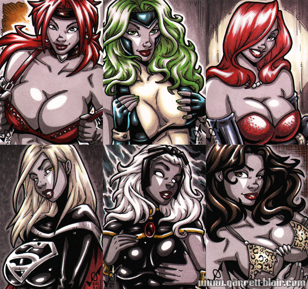 French Sketch Cards 3