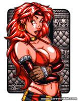 Red Monika close-up by gb2k