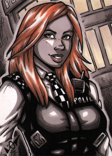 Amy Pond sketch card commission by gb2k
