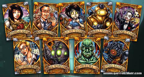 BioShock sketch cards by gb2k