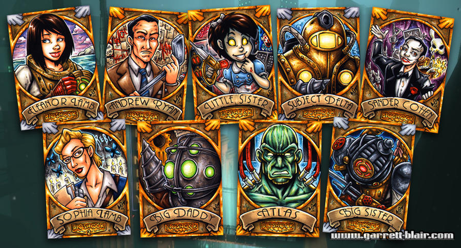 BioShock sketch cards by gb2k