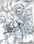 Jessica - The Thing blue pencils