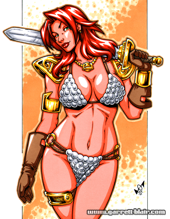 Busty Red Sonja by gb2k