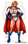 Powergirl Bodyshot commission