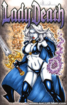 Lady Death Sketch Cover commission 2