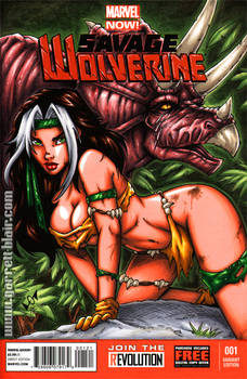 Savage Land Rogue sketch cover