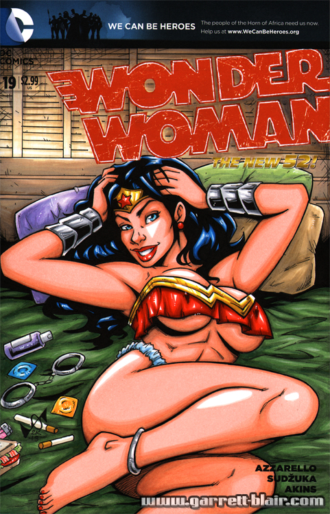 Wonder Woman lingerie sketch cover by gb2k